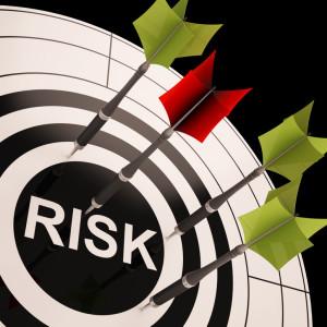 Risk On Dartboard Shows Risky Business